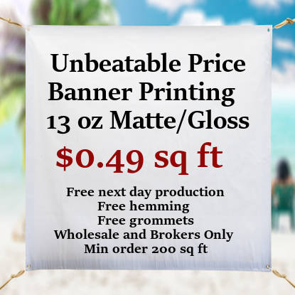 13oz banner from 0.49 sqft