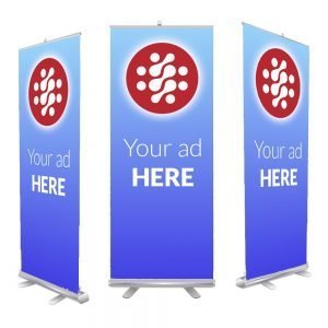 "Retractable Banner Stands Wholesale 33""x79"""