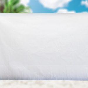 2x3 White Blank Vinyl Banner